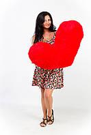 Большая плюшевая подушка сердце 100 см