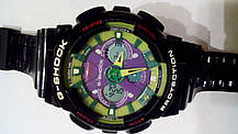 Наручные часы Casio G-Shock GA-120 black/green, фото 2