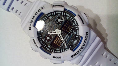 Наручные часы Casio G-Shock GA-100 white, фото 2