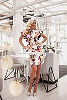 Приталенное платье с шикарным рукавом из волана, фото 1