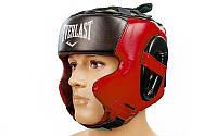 Шлем боксерский в мексиканском стиле FLEX ELAST(красный, р-р M-XL)