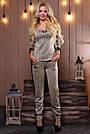 Женский брючный костюм трикотаж ангора с люрексом серый, фото 5