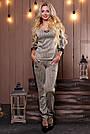 Женский брючный костюм трикотаж ангора с люрексом серый, фото 4
