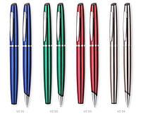 Подарочный набор металлических шариковой ручки и роллера PRESTIGE Vesa pen color