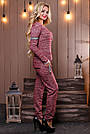 Женский брючный костюм р. от 44 до 50, трикотаж трёхнитка марсала, фото 4