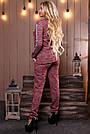 Женский брючный костюм р. от 44 до 50, трикотаж трёхнитка марсала, фото 3