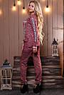 Женский брючный костюм р. от 44 до 50, трикотаж трёхнитка марсала, фото 2