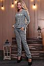 Женский брючный костюм р. от 44 до 50, трикотаж трёхнитка марсала, фото 7