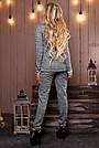Женский брючный костюм р. от 44 до 50, трикотаж трёхнитка марсала, фото 8