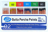 Gutta percha points 02 HTM (штифты гуттаперчивые конусность 02)
