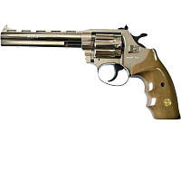 """Револьвер под патрон Флобера Alfa 461 6"""" никель/дерево"""