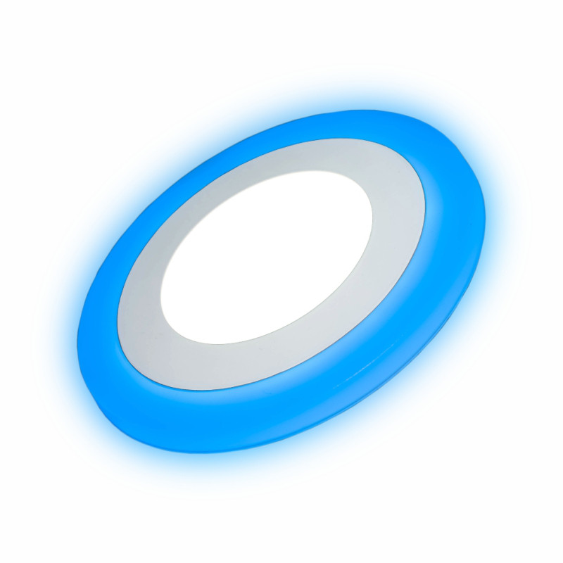 Светильник встраиваемый LED  panel Rigth Hausen Neptune 6W 4000k белый, подсветка 3W blue