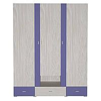 Шафа AXEL A Blonski 3-х дверна атланта+синій