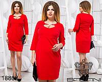 Элегантное короткое платье с вырезом горловины в форме сердца с 48 по 54 размер, фото 1