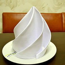 Скатерть 1,40*1,80 Белая из ткани Р-195 на стол 0,80*1,20 Прямоугольная, фото 3