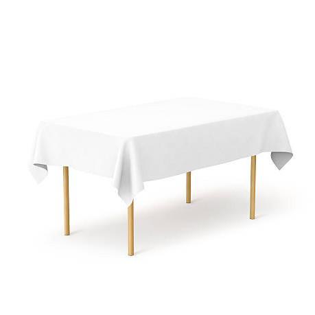Скатерть 1,40*1,80 Белая из ткани Р-195 на стол 0,80*1,20 Прямоугольная