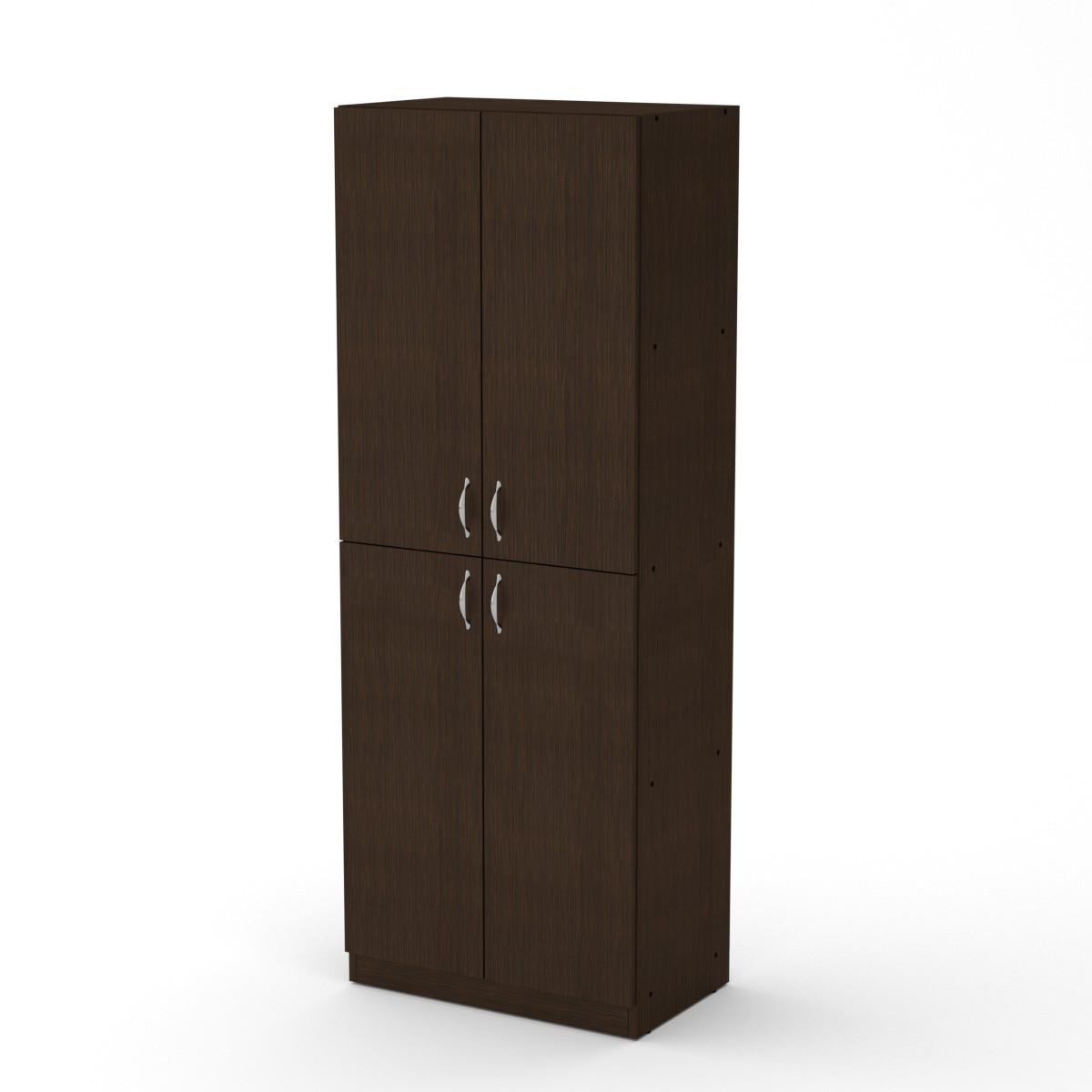 Шкаф книжный КШ-12 венге темный Компанит (60х37х159 см)