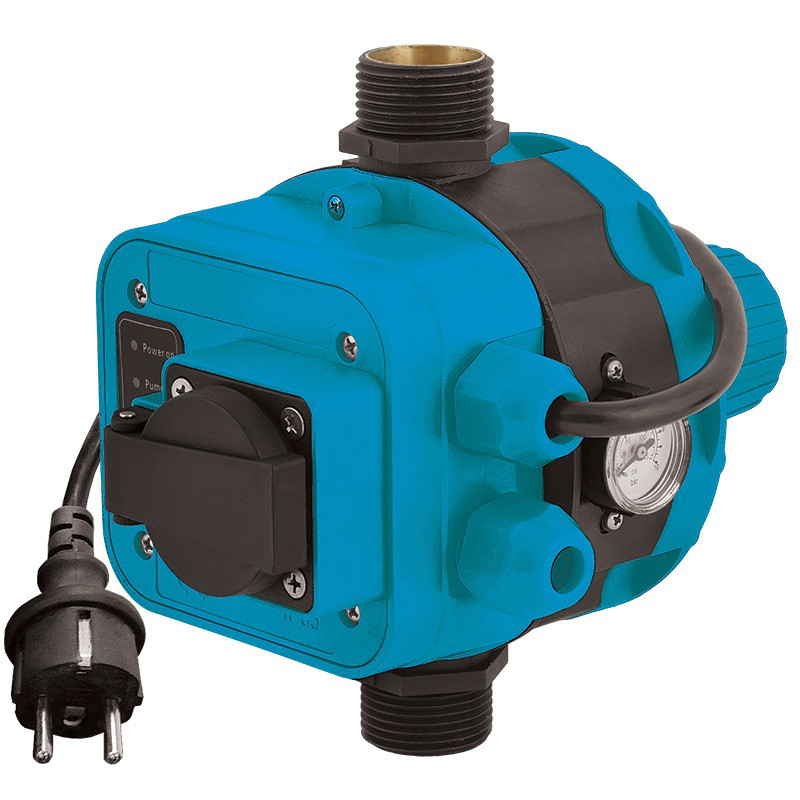 """Контроллер давления Aquatica 1.1 кВт 1"""" электронный с розеткой (779556)"""