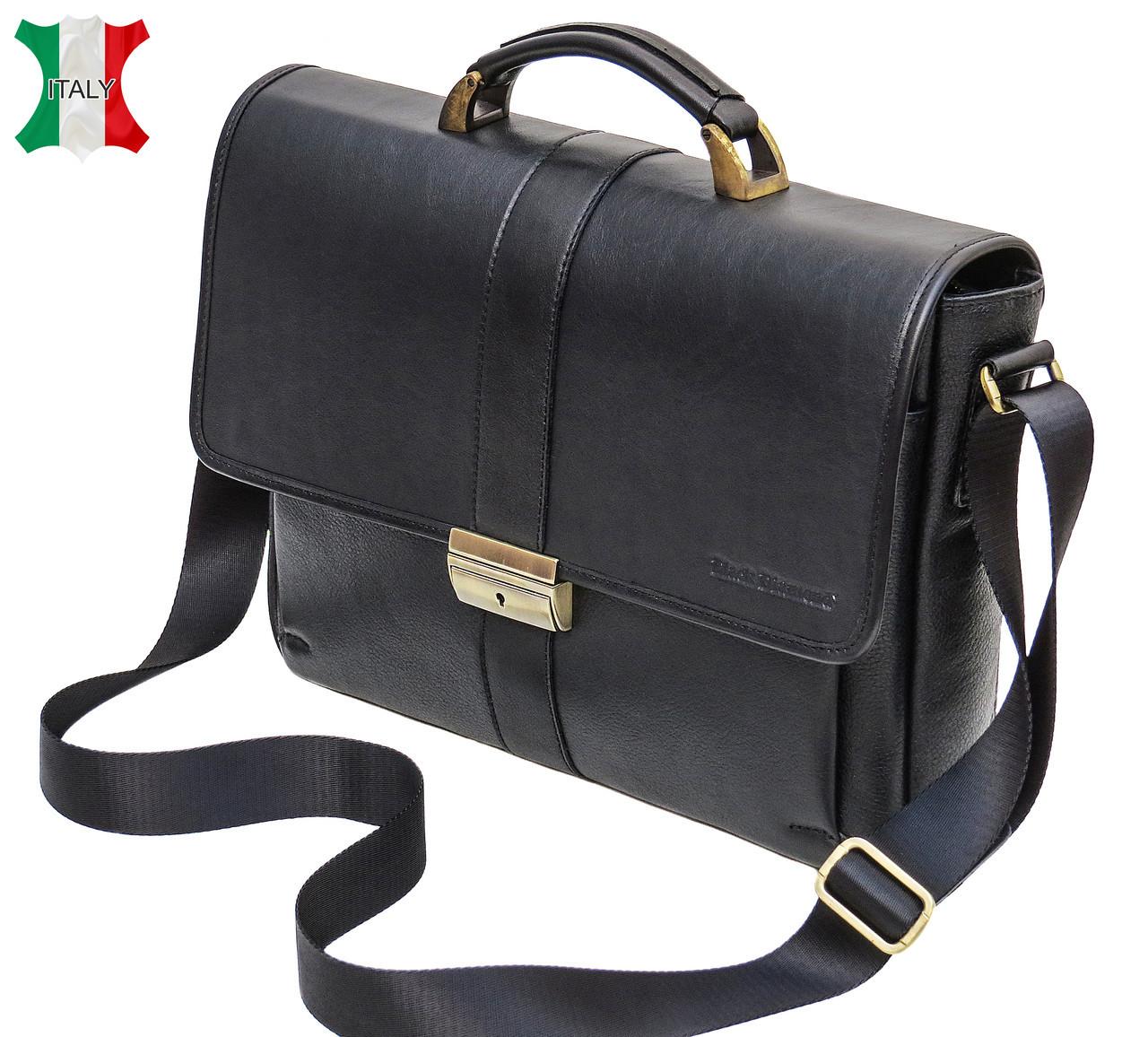 da7c3fa63a12 Мужской кожаный портфель Black Diamond BD19A, черный — только качественная  продукция от ...