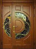Двери в дом с ковкой