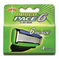 Сменные кассеты для бритья Dorco Pace 6 - 4 шт (3018)
