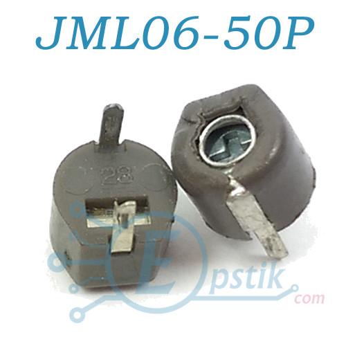 JML06-50P, конденсатор подстроечный, 17-50pF