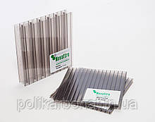 Стільниковий полікарбонат Novattro 4 мм, бронза