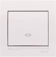 Выключатель 1-кл перекрестный (белый) Deriy Lezard