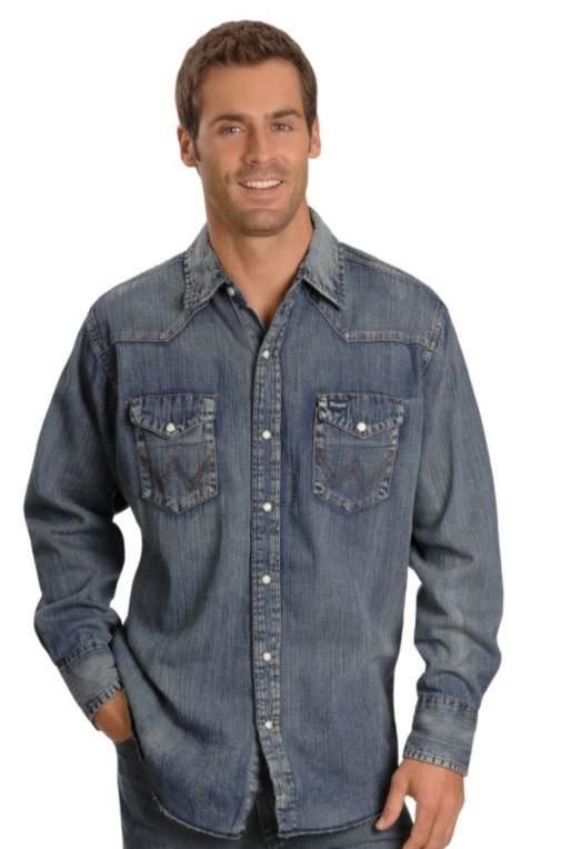 Джинсовая рубашка Wrangler - Antique Blue (M)