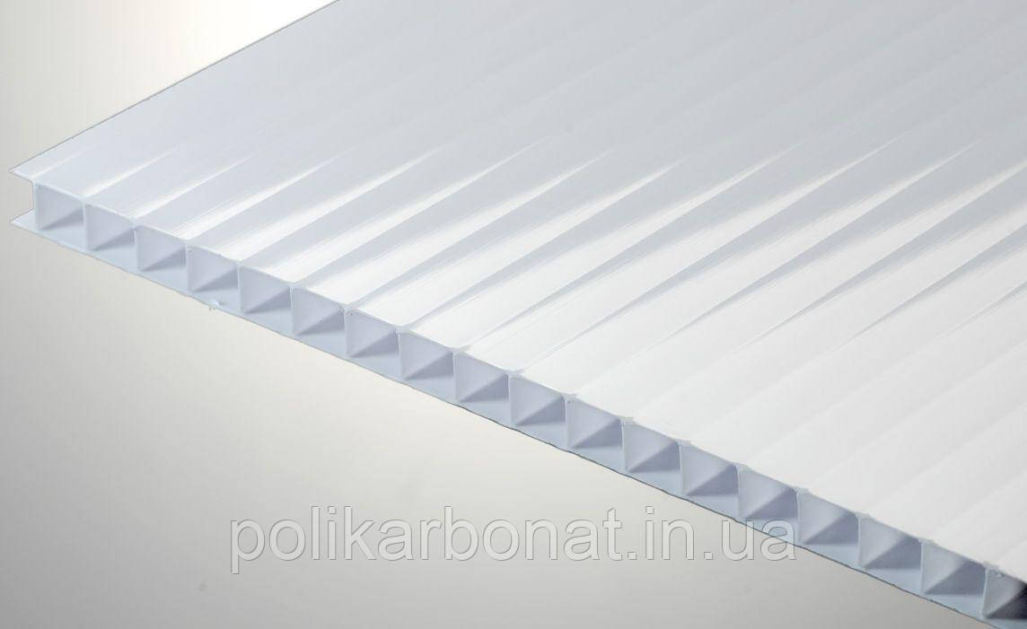 Сотовый поликарбонат Novattro 6 мм, молочный