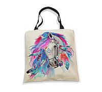 """Эко-сумка с черной ручкой """"Лошадь. Энергия свободы"""""""