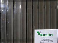 Сотовый поликарбонат Novattro 8 мм, бронза