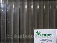 Стільниковий полікарбонат Novattro 8 мм, бронза