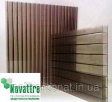 Стільниковий полікарбонат Novattro 10 мм, бронза