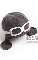 Шапка для сауны ЛЁТЧИК (комбинированный войлок), фото 1
