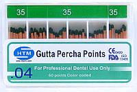 Gutta percha points №35 04 HTM (штифты гуттаперчивые № 35 конусность 04)