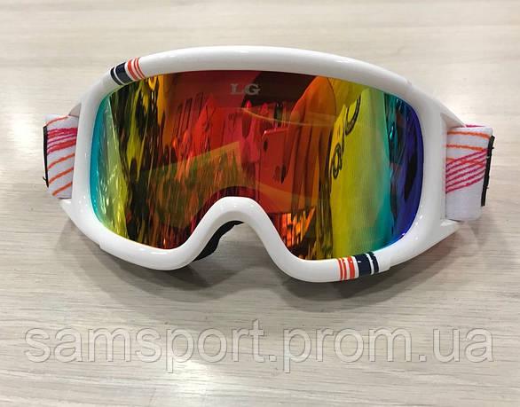 LG0060 Женские горнолыжные маски очки Legend белого цвета