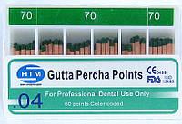 Gutta percha points №70 04 HTM (штифты гуттаперчивые № 70 конусность 04)