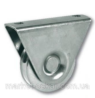 Опорний Ролик для відкатних воріт вагою до 150 кг з V-направляючої