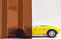 Профилированный монолитный поликарбонат ТМ Borrex 0.8мм 105х400см янтарный