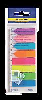 Закладки пластиковые neon 45x12мм+42x12мм, 8 цветов по 25л., ассорти bm.2307-98
