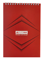 Блокнот на пружине сверху monochrome, А5, 48л., jobmax, красный bm.2474-05