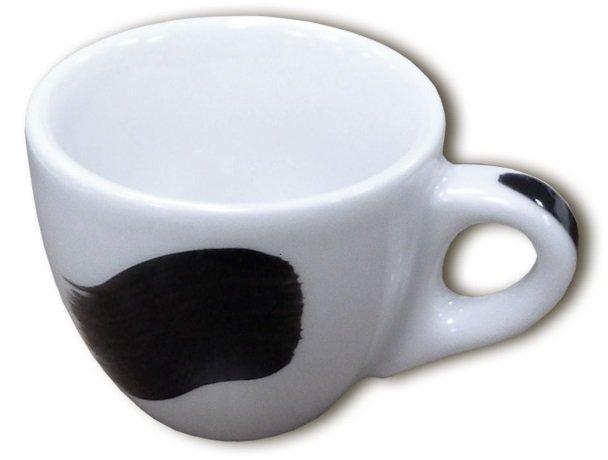 """Чашка 75 мл. фарфоровая, белая с черной полоской """"A"""" espresso Verona Millecolori, Ancap"""