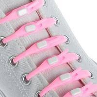 Силиконовые шнурки Dawdler Latchet Розовые для обуви, набор 12 шт