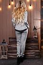 Женский брючный костюм р. от 44 до 50, трикотаж ангора с люрексом, серый, фото 6