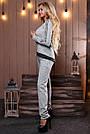 Женский брючный костюм р. от 44 до 50, трикотаж ангора с люрексом, серый, фото 5