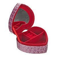 Шкатулка для украшений в виде сердца. Фиолетовая