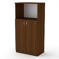 Шкаф книжный КШ-15 орех экко Компанит (61х37х120 см), фото 1