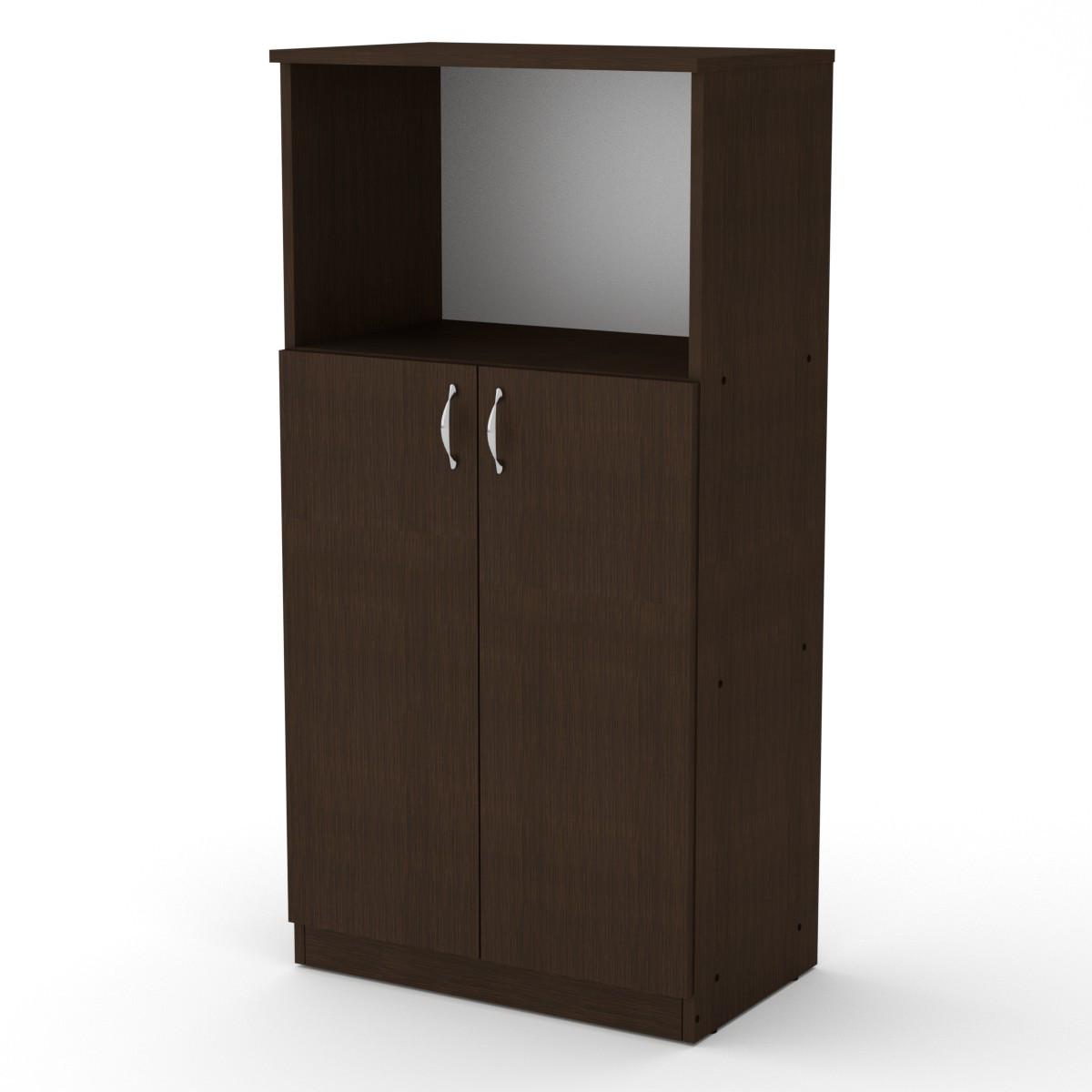Шкаф книжный КШ-15 венге темный Компанит (61х37х120 см)