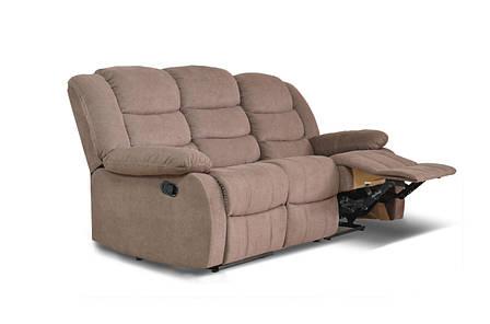 Диван реклайнер Ashley, диван реклайнер, мягкий диван, мебель в ткани, фото 2